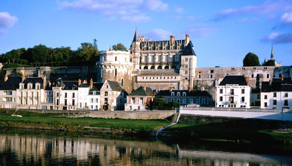 View of the castle of Amboise