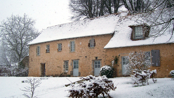 View of the house under the snow