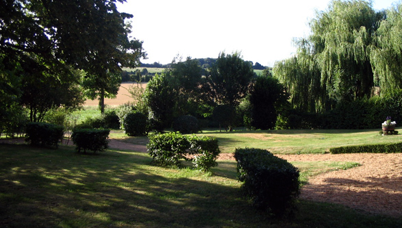 View of the private garden from the lime tree