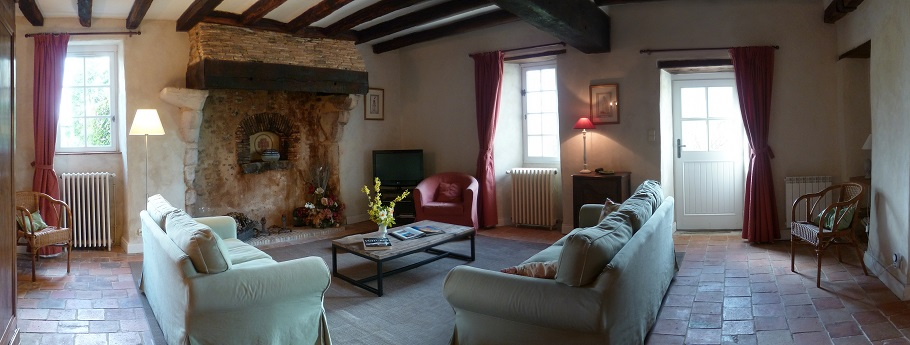 Panoramic view of the living room - Logis de Belle Fontaine