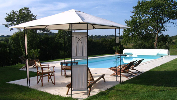 View of the beautiful countryside from the swimming pool